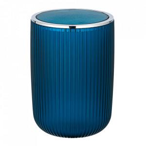 Cos de gunoi albastru petrol/argintiu din plastic 5,5 L Agropoli Wenko