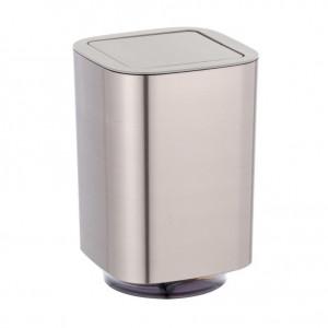 Cos de gunoi argintiu din plastic 5,5 L Auron Wenko