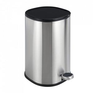Cos de gunoi argintiu mat din inox 5 L Nant Wenko