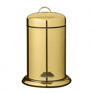 Cos de gunoi auriu din inox 22x29,5 cm Anne Bloomingville