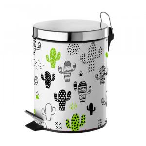 Cos de gunoi multicolor din metal si polipropilena 3 L Cactus Unimasa