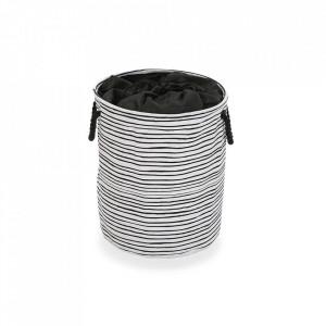Cos de rufe alb/negru din poliester 35x40 cm Black Line Laundry Mini Versa Home