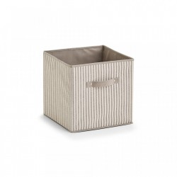 Cos pliabil bej din fleece Storage Box Foldable Stripes Zeller