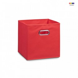 Cos rosu din fleece Storage Box Red Zeller