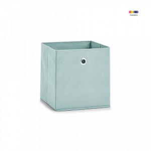 Cos verde din fleece Storage Box Square Mint Zeller