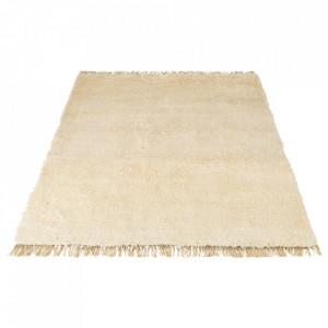 Covor alb din lana 200x300 Spinello Bolia
