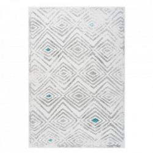 Covor alb/gri din polipropilena Vancouver 410 Kayoom (diverse dimensiuni)