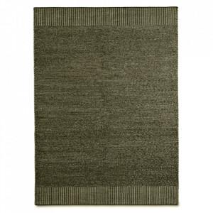 Covor alb/verde muschi din lana si iuta 170x240 cm Rombo Woud