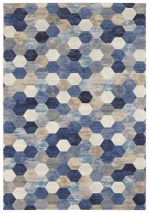 Covor albastru/crem din polipropilena Manosque Arty Blue Cream Elle Decor (diverse dimensiuni)