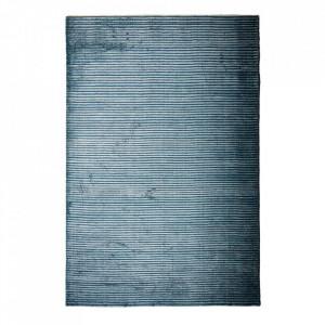 Covor albastru din lyocell si bumbac 200x300 cm Houkime Menu
