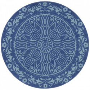 Covor albastru din polipropilena 140 cm Vintage Floral The Home