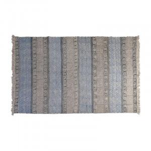 Covor albastru/gri din bumbac 160x230 Luciana Giner y Colomer