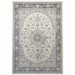Covor crem/gri antracit din bumbac si viscoza 160x230 cm Modern Orient The Home