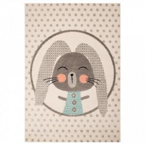 Covor crem pentru copii 170x120 cm Bunny Zala Living