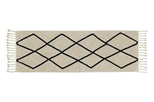 Covor dreptunghiular bej din bumbac 80x230 cm Bereber Beige Pasillo Lorena Canals