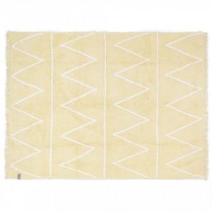 Covor dreptunghiular galben din bumbac 120x160 cm Hippy Yellow Lorena Canals
