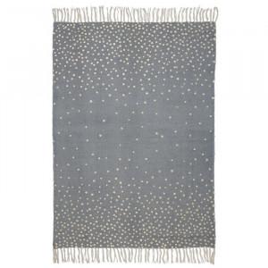 Covor dreptunghiular gri/auriu din bumbac pentru copii 90x120 cm Gray Done by Deer