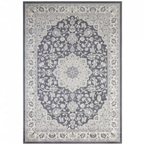 Covor gri antracit/argintiu din bumbac si viscoza 160x230 cm Orient Keshan The Home