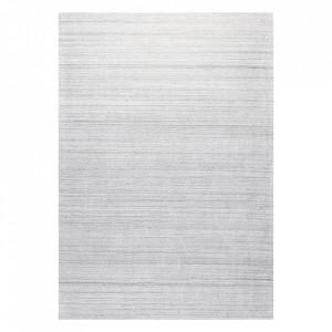Covor gri argintiu din viscoza si lana Ripple Ligne Pure (diverse dimensiuni)
