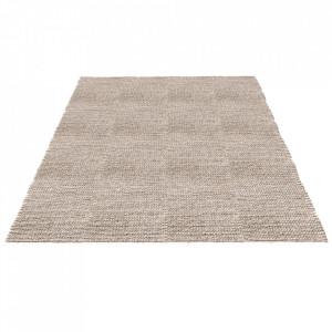 Covor gri deschis din lana si viscoza 170x240 cm Braid Bolia