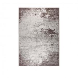 Covor maro din bumbac si lana 170x240 cm Distressed Brown Dutchbone