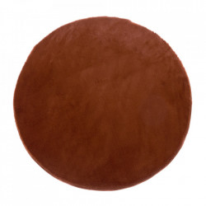 Covor maro teracota din poliester 80 cm Lindsey Unimasa