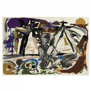 Covor multicolor din lana si bumbac 200x300 cm Munar Normann Copenhagen