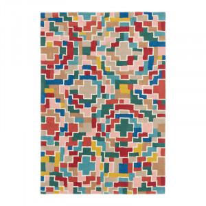 Covor multicolor din lana si viscoza Estella Tetris Brink & Campman (diverse dimensiuni)