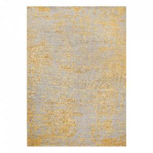 Covor multicolor din viscoza si lana Reflect Yellow Ligne Pure (diverse dimensiuni)