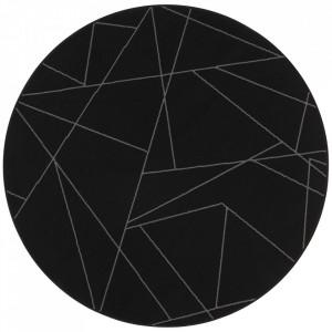 Covor negru din polipropilena 140 cm Geometric The Home