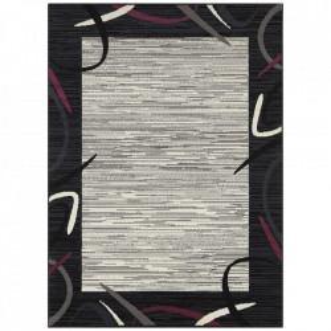 Covor negru/mov din polipropilena Retro Pattern The Home (diverse dimensiuni)
