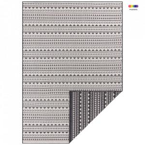 Covor reversibil negru/crem din polipropilena pentru exterior Pattern The Home (diverse dimensiuni)