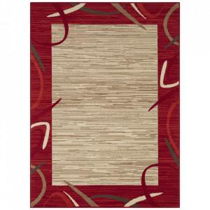 Covor rosu/maro din polipropilena Retro Pattern The Home (diverse dimensiuni)