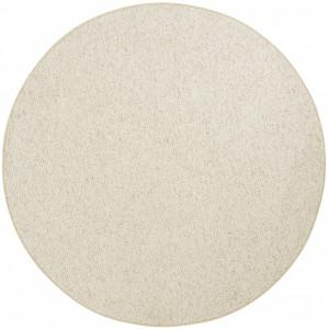 Covor rotund crem Wolly BT Carpet (diverse marimi)