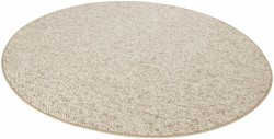 Covor rotund maro deschis Wolly BT Carpets