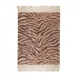 Covor roz din viscoza 200x300 cm Zebra Friendly Pink Bold Monkey