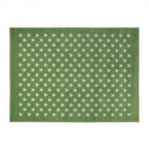 Covor verde din fibre acrilice 120x160 cm Little Stars Lorena Canals