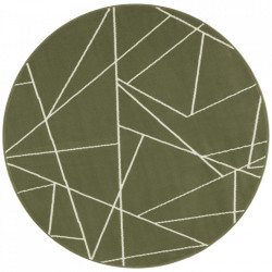 Covor verde din polipropilena 140 cm Geometric The Home