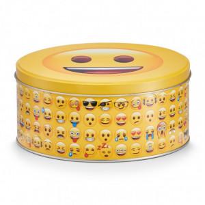 Cutie cu capac multicolora din metal Smiley Zeller