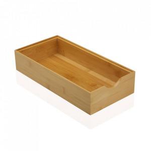 Cutie maro din lemn Big Bamboo Box Versa Home