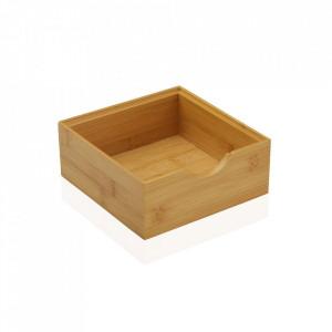 Cutie maro din lemn Small Bamboo Box Versa Home