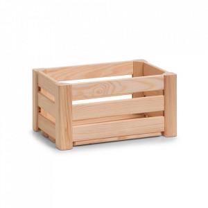 Cutie maro din lemn Strips Mini Zeller