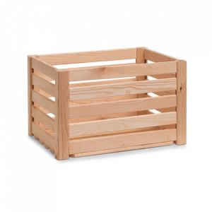 Cutie maro din lemn Strips Tall Zeller