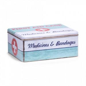Cutie multicolora cu capac din metal pentru medicamente First Aid Medium Zeller