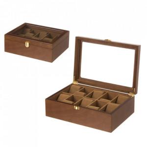 Cutie pentru ceasuri maro din MDF Gilbert Unimasa