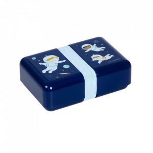 Cutie pentru pranz albastra din polipropilena Astronauts A Little Lovely Company
