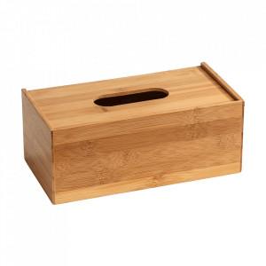 Cutie pentru servetele maro din lemn Terra Wenko