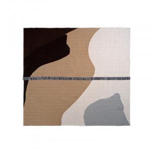 Cuvertura multicolora din lana si bumbac 240x250 cm Vista Ferm Living