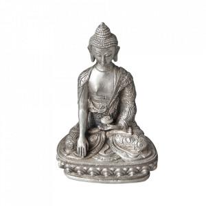 Decoratiune argintie din alama 20 cm Sitting Buddha Versmissen