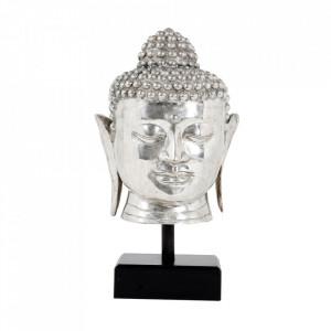 Decoratiune argintie din alama si triplex 55 cm Buddha Eichholtz